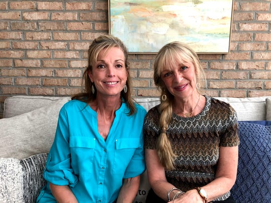 From left to right: Barb Swett and La Sunflower founder Lynne Ross. Ross founded her company La Sunflower combining two things she loved —botany and healing elements. La Sunflower sells holistic salves, elixirs, skin products and more.