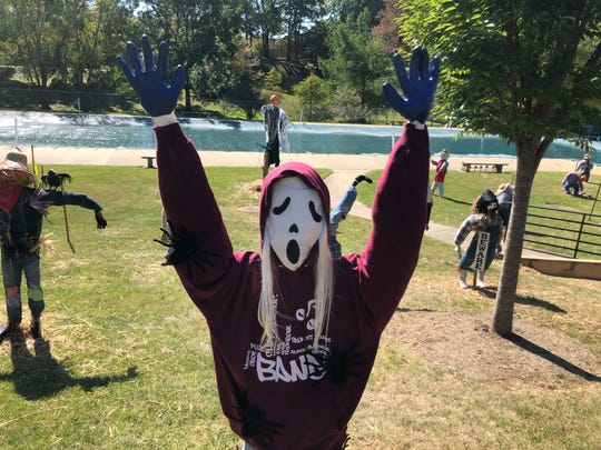 Handmade scarecrows will be on display in Gypsy Hill Park until the end of October.
