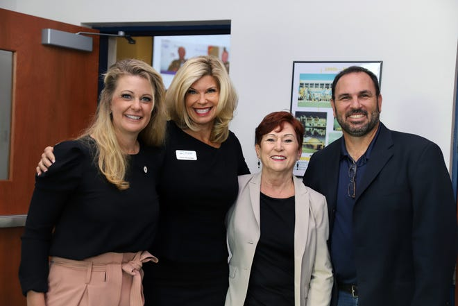 Kelli Lauth, left,  CEO of mindSpark Learning, with Morgridge Family Foundation Vice President Carrie Morgridge, Guardians for New Futures Executive Director Debbie Butler and Bob Zaccheo, founder and CEO of Project L.I.F.T. Inc., at the 2019 Child Summit at Indian River State College.