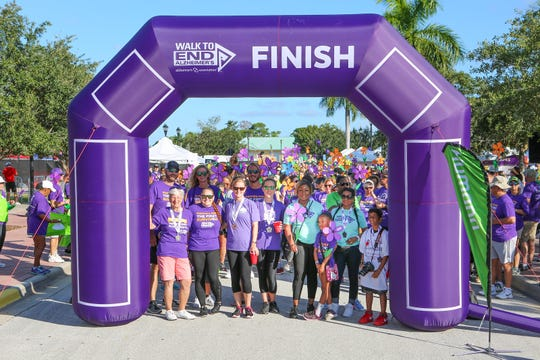 Team Henry's Walk for a Cure prepares to participate in the Walk to End Alzheimer's at the Port St. Lucie Civic Center on Sept. 28, 2019. Team Henry raised nearly $5,000 at the 2019 walk.