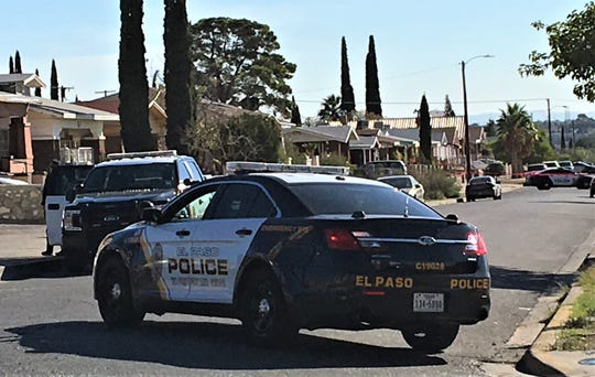 El Paso police block Lebanon Avenue on Sunday morning during an investigation into an officer-involved shooting on Saturday night.