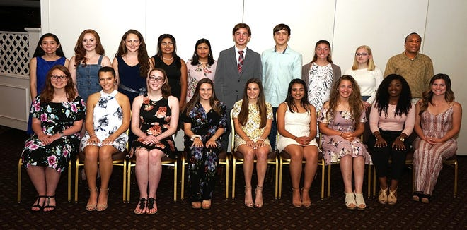 Nineteen area students were awarded scholarships by Vineland Rotary.
