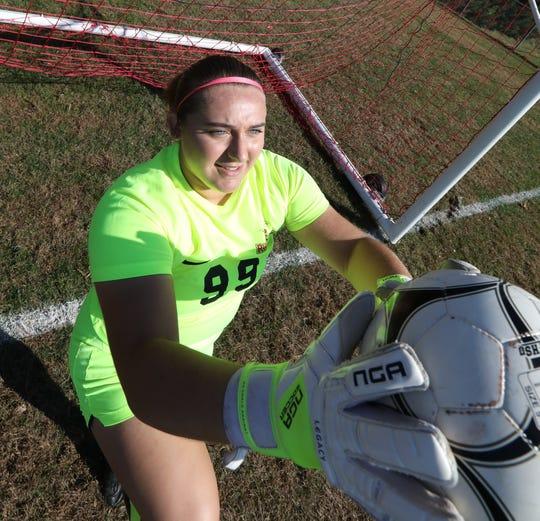 North Rockland soccer goalie Allie Spong Oct. 14, 2019.