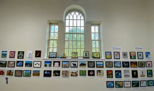 The 2019 Mystery Art Fest Exhibit & Sale culminates on Friday Oct 28 at Kemp Center for the Arts's NorthLight Gallery with a silent auction starting at 6:30 p.m. and the live auction at 8 p.m.