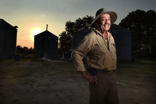 Charles Thompson photographed at his east Augusta, Ga., farm Wednesday, Oct. 2, 2019.