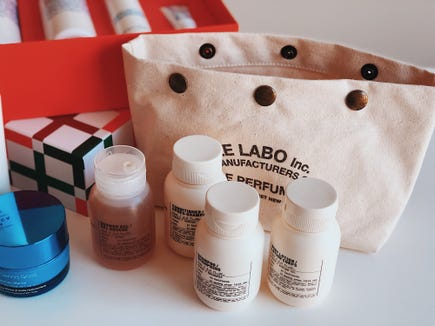The best gifts for travelers 2019: Le Labo Travel Set.