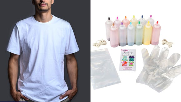 Best unique gifts 2019: Everlane Premium Weight Crew T-shirt and Tulip One-Step Tie-Dye Kit