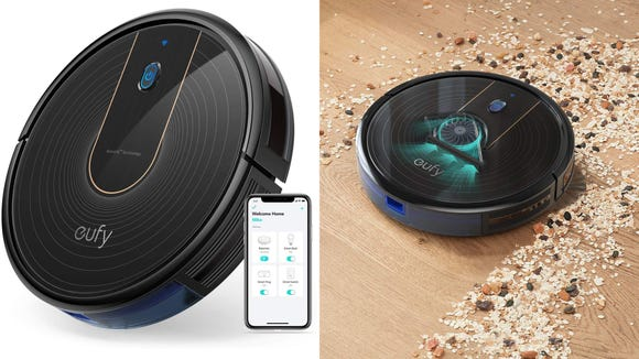 Keep things tidy with a smart robot vacuum at a great price.