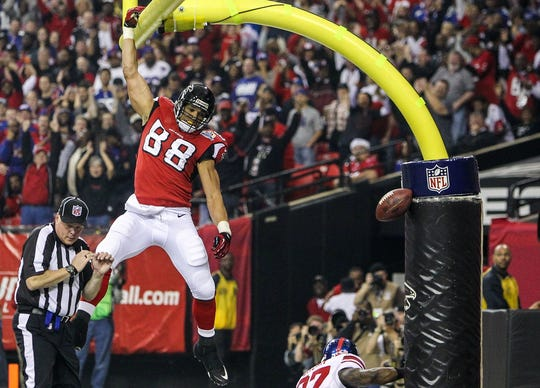 Tony Gonzalez currently holds the NFL record for receiving yards and receptions by a tight end, is second behind only Jerry Rice for most all-time receptions and was named a Pro Bowler 14 times, which is tied for the most all-time.