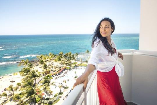 Rosario Dawson in Puerto Rico.