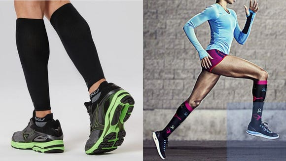 Best gifts for runners 2019: 2XU Calf Compression Sleeves & Charmleaks Compression Socks