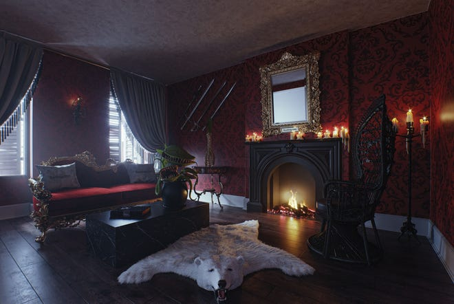 'The Addams Family Mansion' living room.