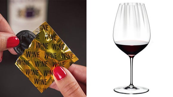 Best unique gifts 2019: Wine Condoms and Riedel glasses