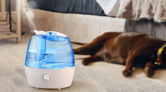 Operating at just 28 decibels, the VicTsing Cool Mist Humidifier claims to be quieter than turning a page in a book.
