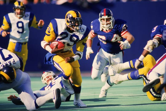 Eric Dickerson was the 1996 AP Offensive Player of the Year, a five-time First Team All-Pro and a six-time Pro Bowler.