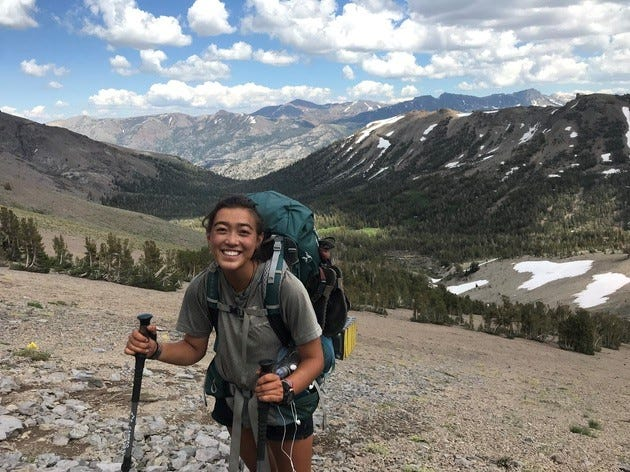 Mei Lin McKinney, 22, spent her summer (and then some) hiking the Pacific Crest Trail in the western United States.
