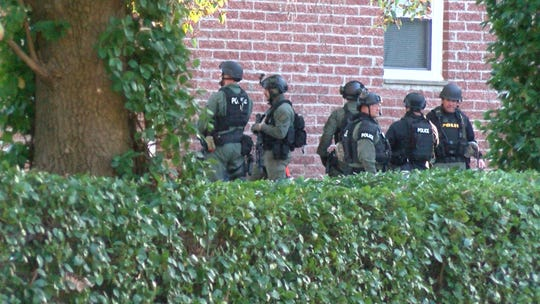 Two people are in custody following a shooting incident in Tinton Falls that later led to a police standoff at a Freehold Borough apartment complex Monday afternoon.