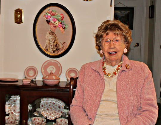 Barbara Potter, 94, of Applewood in Freehold, was an avid needlepointer for most of her life.