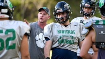 Mountain Heritage coach Joey Robinson has spent his career making the Cougars a worthy rival for the Mitchell Mountaineers, his alma mater.