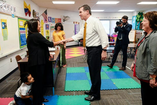 """We provided, in my budget proposal, that there should be funding for substitutes to be paid by the state,"" Gov. Roy Cooper said while visiting Buncombe County."