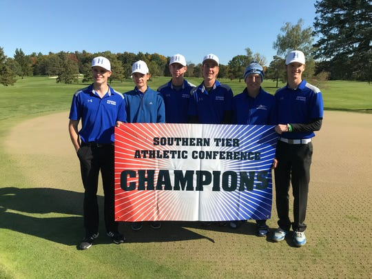 Horseheads Blue Raiders, 2019 STAC golf champions.