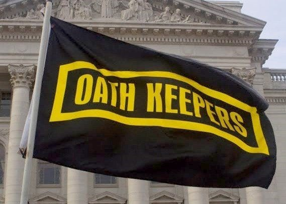 The anti-government group, Oath Keepers, says it plans to help protect Trump supporters at the president's rally in Dallas, Oct. 17, 2019.
