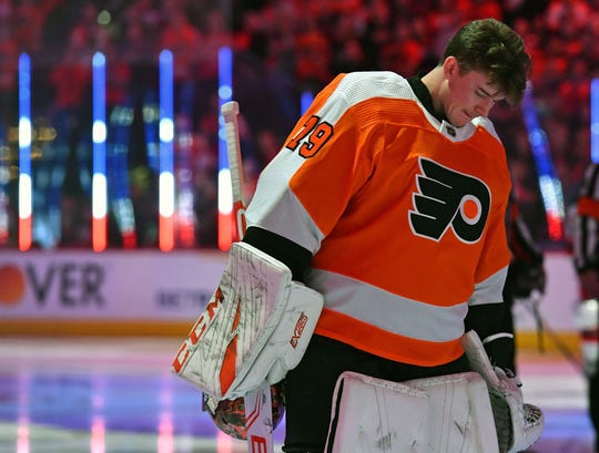 For the first time in his NHL career, Carter Hart will play in Edmonton Wednesday night. He grew up in nearby Sherwood Park, Alberta.