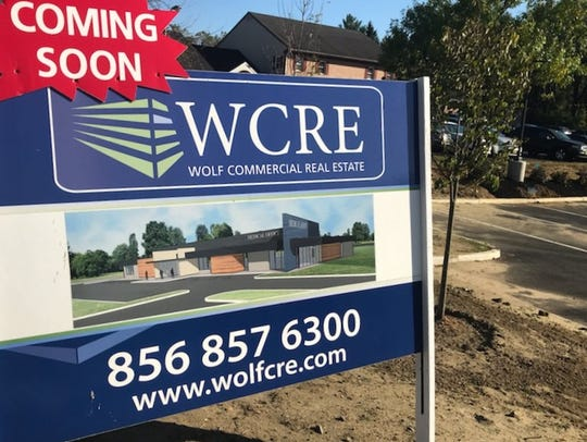 A roadside sign seeks tenants for a new medical office building coming to Route 70 in Cherry Hill.