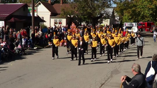 The Paint Valley band performs at the Fall Festival of Leaves.