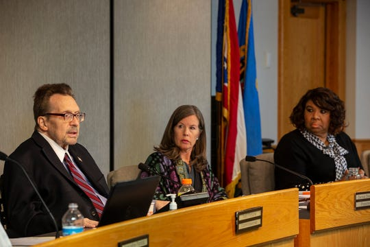 Hamilton County Board of Commissioners Todd Portune, left, Denise Driehaus, and Stephanie Summerow Dumas on Tuesday October 15, 2019  voted unanimously on Tuesday to permanently extend that 0.25% sales tax to help stave off a looming budget deficit.