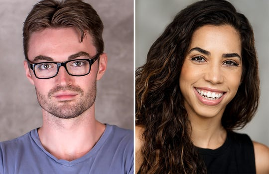"Ian Alexander Erbe and Yarissa Tiara Millan star as Brad and Janet in Richard O'Brien's ""The Rocky Horror Show"" at the Roxy Regional Theatre, Oct. 25-Nov. 2."