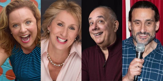 "Comics, from left to right, Tracy Locke, Helene Angley, Marc Kaye and Tony Parlante will entertain supporters of New Brunswick Tomorrow on Oct. 23 at The Stress Factory at the nonprofit's eighth annual ""Night of Comedy"" fundraiser."