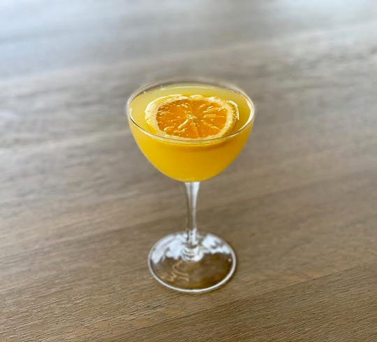 A spiced honey orange margarita from St. Kilda at the Temple for Performing Arts.