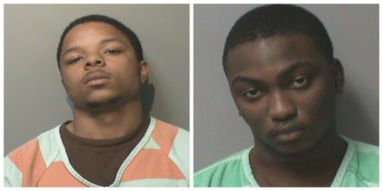 Des Moines 18-year-olds Gregory Samuel Hampton Jr., left, and Adam Ahmad Ismail shown in their Polk County Jail mugshots.