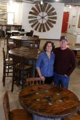 Heather and Doug Gaumer are the co-owners of the West Hill Brewery in Indianola. The West Hill Brewery is scheduled to open Nov. 2.
