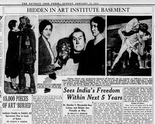 This Detroit Free Press story from 1931 talks about Gov. John J. Bagley's bust being in storage.