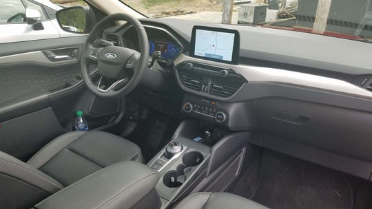 The 2020 Ford Escape Hybrid looks the same inside as any other Escape model. Ford is keen to sell the car as a mainstream model.