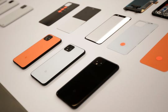 New Pixel 4 phones at Google in Mountain View, Calif.
