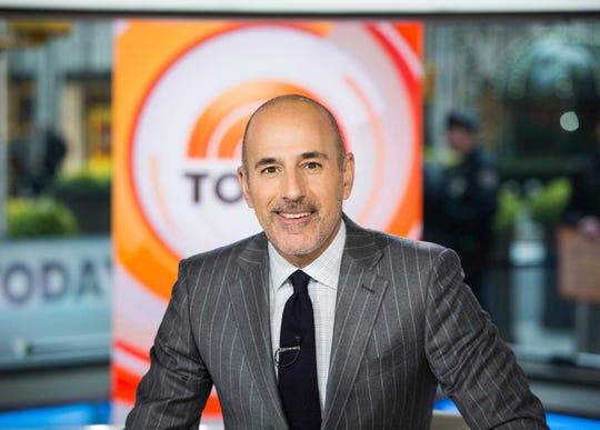 """Matt Lauer on the set of the """"Today"""" show in New York in 2017."""