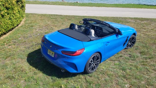 The soft top on the 2020 BMW Z4 can be retracted at up to 31 mph in about 10 seconds.