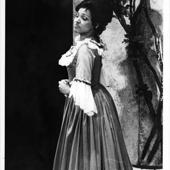 Kathleen Battle as Rosina in the 1976 MOT production of Mozart'sThe Barber of Seville.