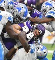 The Lions are one-point underdogs against the Vikings this Sunday in Detroit.