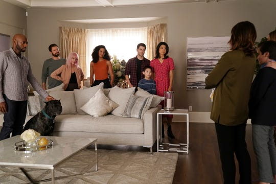 """This image released by ABC shows a scene from the series """"A Million Little Things."""" The sophomore drama, reality show """"Shark Tank"""" and the Fox first-responders drama """"9-1-1"""" are the only three of 49 prime-time shows returning to the ABC, CBS, NBC and Fox fall schedules that have a bigger audience on the night they originally air than they did last season, the Nielsen company said."""