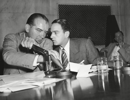 "Roy M. Cohn and Joseph McCarthy in ""Where's My Roy Cohn?"""