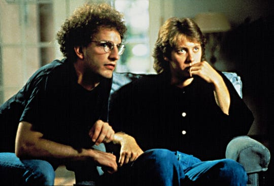 """Steven Soderbergh (left) and James Spader (right) on the set of """"Sex, Lies and Videotape."""""""