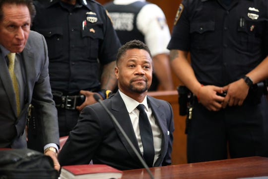 Cuba Gooding Jr. appears in court to face new sexual misconduct charges, Tuesday, Oct. 15, 2019, in New York.