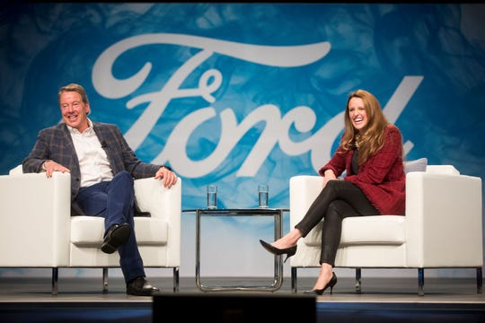Ford Motor Co. Executive Chairman Bill Ford sat for a fireside chat with his daughter, Alexandra Ford English, to celebrate his 40th anniversary with Ford.