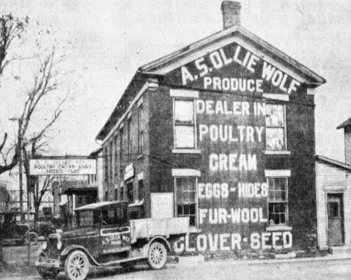 Wolfe Produce was one of the oldest buildings in Fremont.