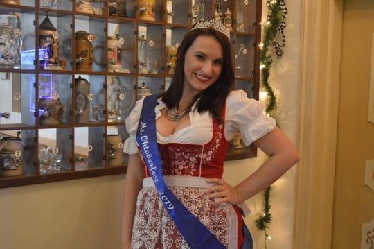 This year's Miss Oktoberfest is FGCU graduate Ashley Jones, 22, of Estero.