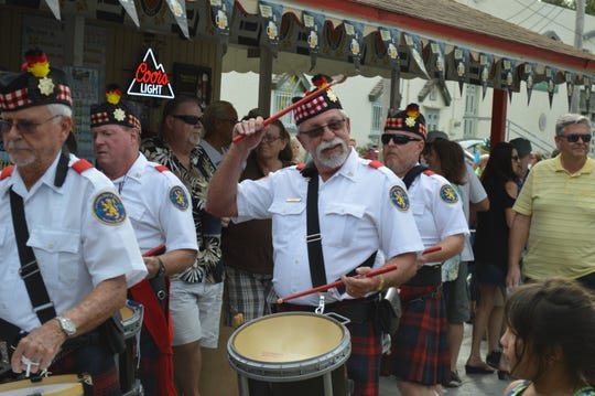 Lee County Pipes & Drums performs at Oktoberfest every year.